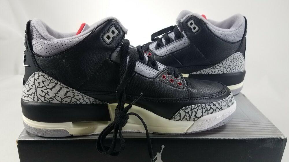 ad156baa3d3d eBay  Sponsored 2001 Air Jordan 3 Retro Black Cement 136064001 Sz 9 NIB  Free SH! J11