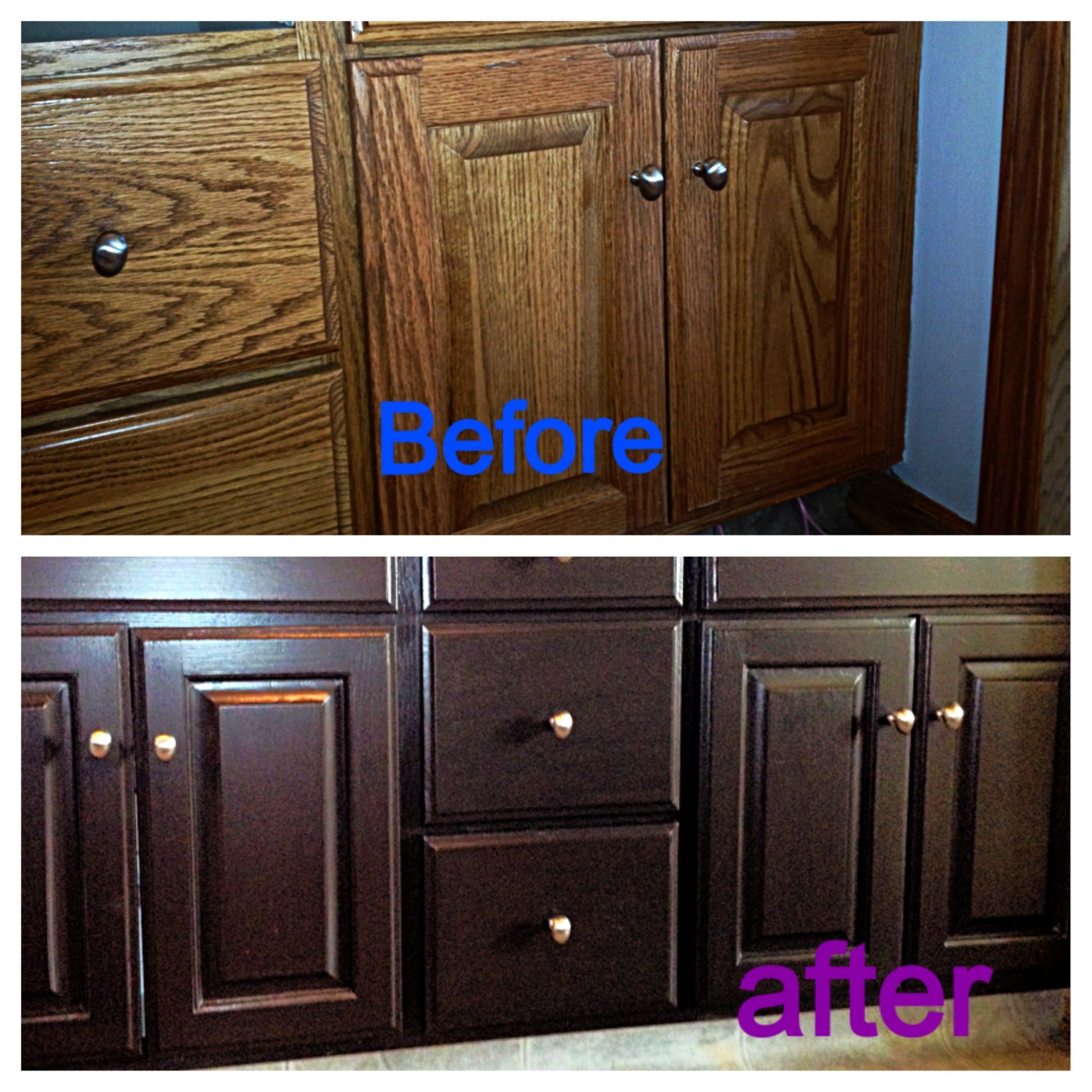 Refinished Without Any Sanding Rustoleum Cabinet Transformations Kit From Lowes Rustoleum Cabinet Painted Furniture Diy Projects Ikea