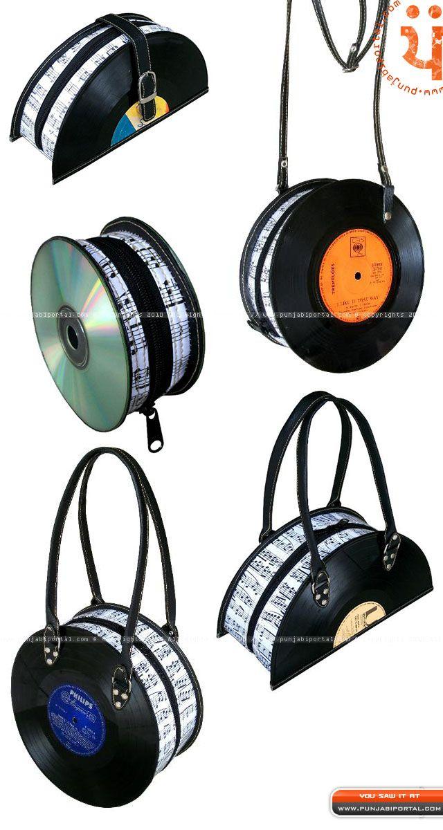 Polygraph Record Bags Recycled Neveh Milo Diy Idas