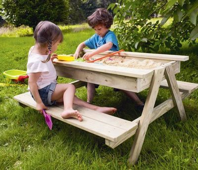 beach away from home 8 cool sandboxes that inspire play sandbox plays and picnic tables. Black Bedroom Furniture Sets. Home Design Ideas