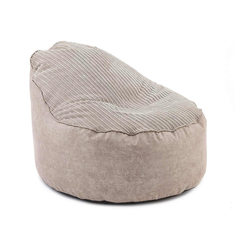 Natural Jumbo Cord Opal Bean Chair