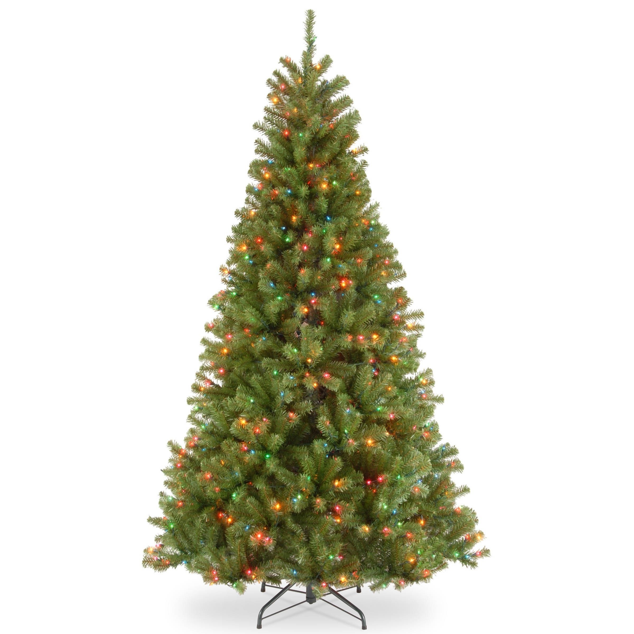 ft north valley spruce tree with multicolor lights green