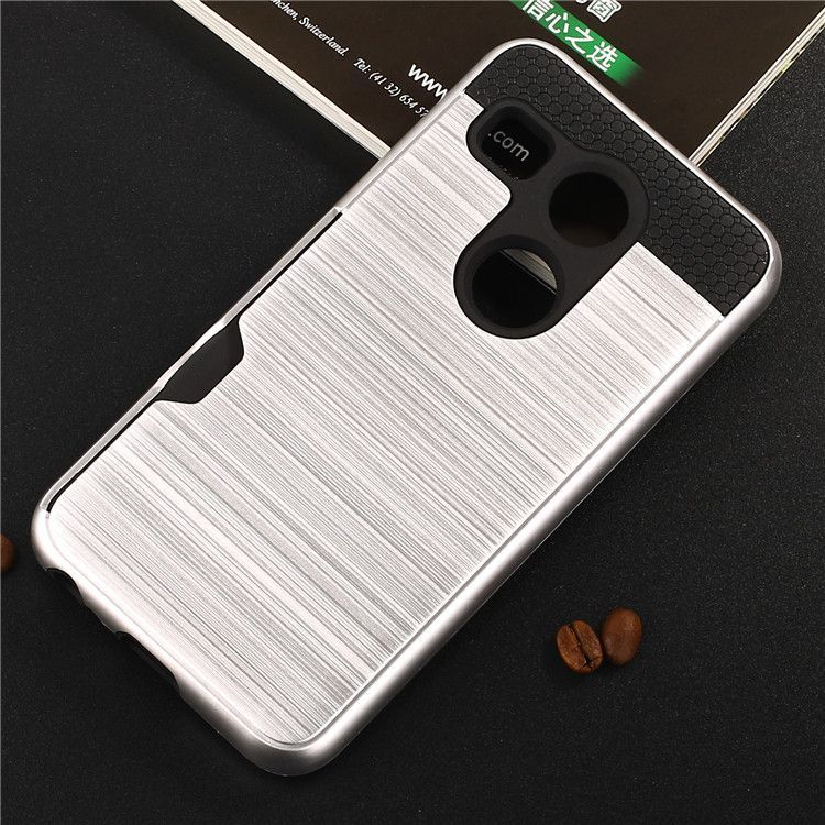 For LG Nexus 5X Case H798 H791F H790 H791 Brushed Armor Rugged Silicone Rubber Hard Phone Cover for LG Nexus 5X w/ Card Slot (<