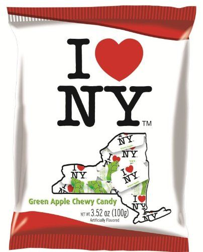 I LOVE NEW YORK - Green Apple Candy 3.52oz (100g) Green Apple Candy