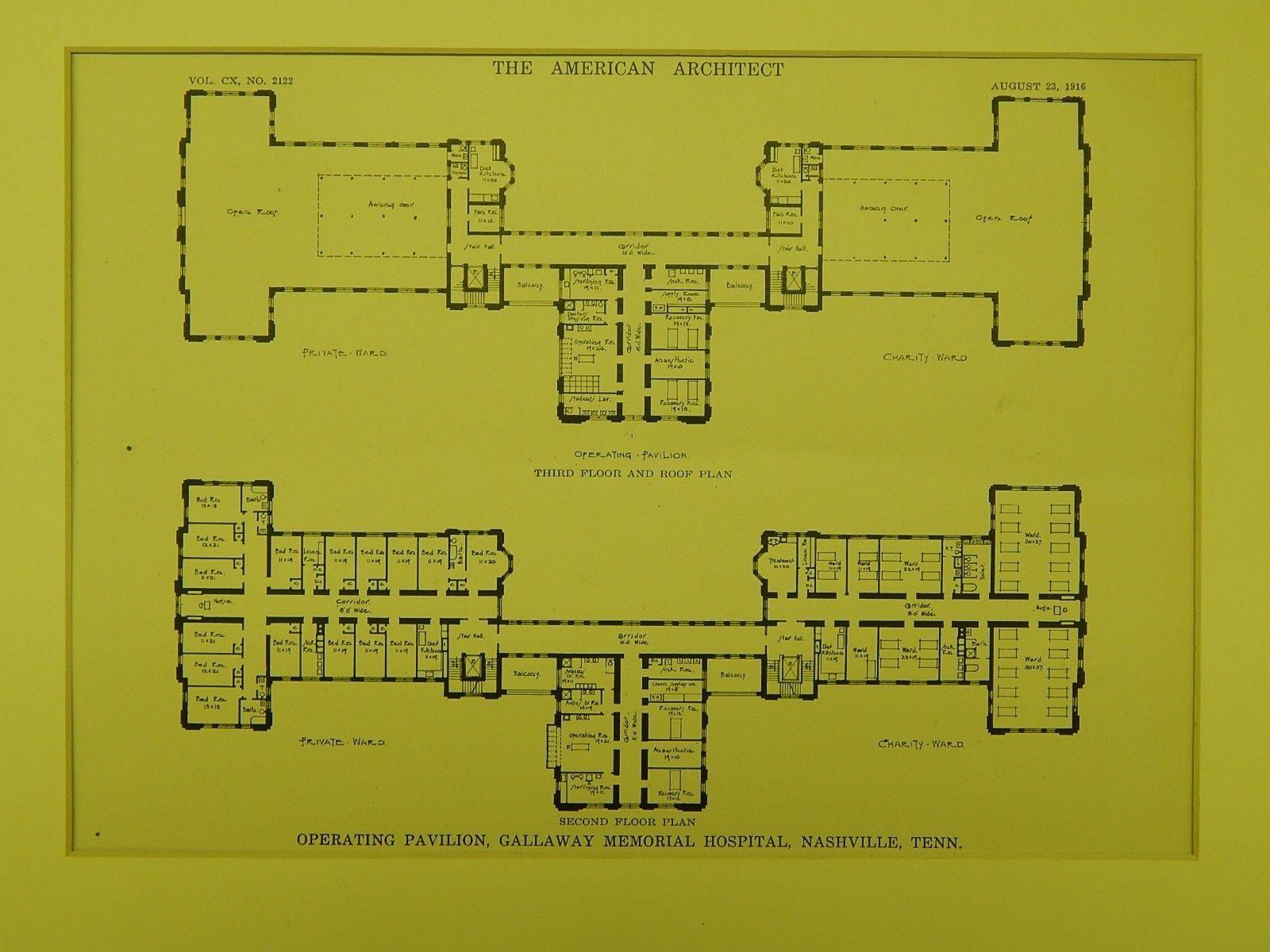 Operating Pavilion, Gallaway Memorial Hospital, Nashville, TN, 1916, Samuel Hannaford & Sons.