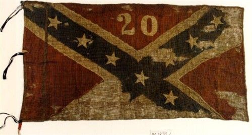 When the Civil War began,Isham Warren Garrott formed the 20th Alabama Infantry Regiment, serving as its colonel.  Garrott took part in the Battle of Port Gibson and the Battle of Champion's Hill.   this was their battle flag