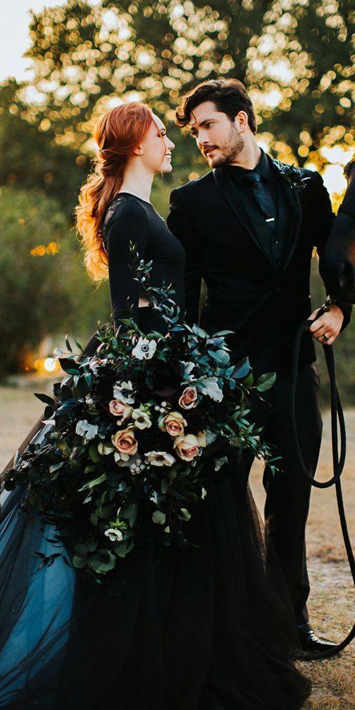 20+ Elegant Black Wedding Dresses