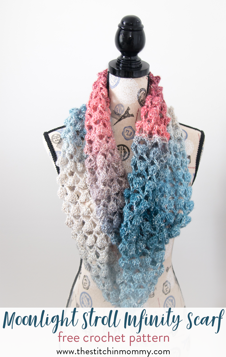 Moonlight Stroll Infinity Scarf - Free Crochet Pattern   Schals und ...