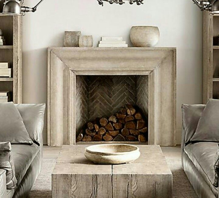 Love This Fireplace Image From Restoration Hardware Home
