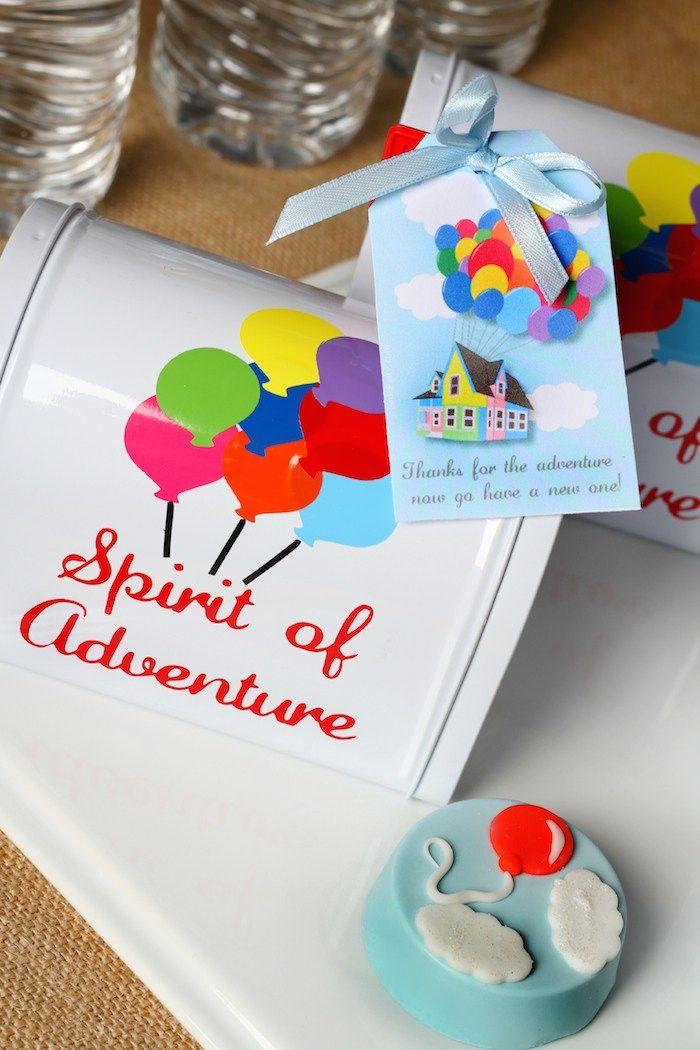 Disney's Up themed birthday party via Kara's Party Ideas KarasPartyIdeas.com Printables, cakes, invitation, cupcakes, desserts, and MORE! #disneysup #genderneutralparty #karaspartyideas (29)