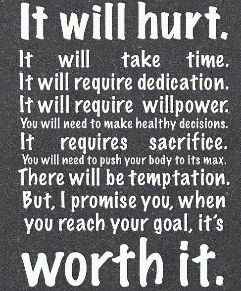 the goal is worth it