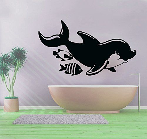 wall decals dolphins decal vinyl sticker bathroom window on wall stickers for hall id=66784