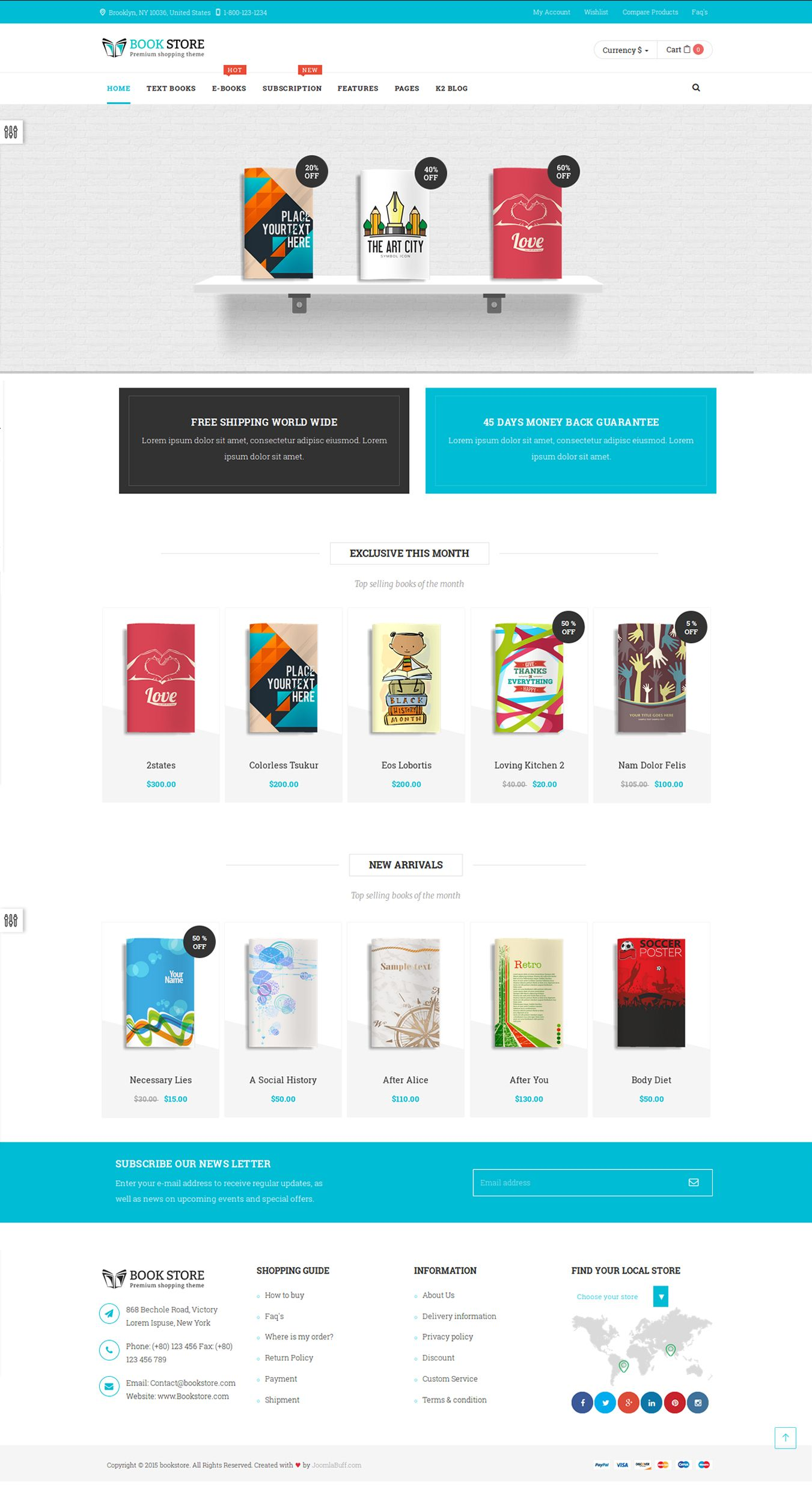 bookstore joomla template home page version 3, some peoples like, Powerpoint templates