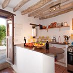 Country kitchen of the Muleteer's House in Cortes de la Frontera.