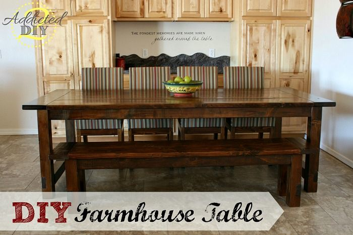 Build Your Own Beautiful Farmhouse Table Complete With Bench And Extensions Using Simple Plans For Only A Fraction Of The Price Purchasing One