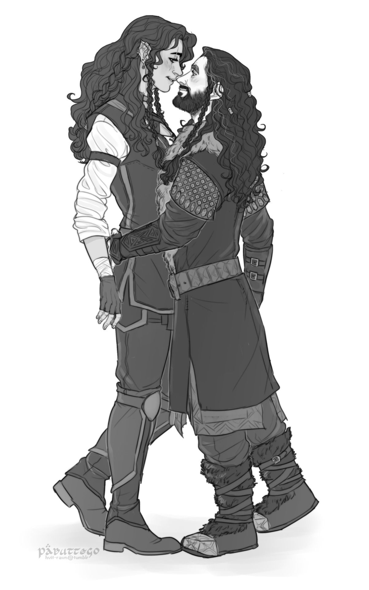Thorin and an elven girlfriend? (by Pabuttego) | Middle