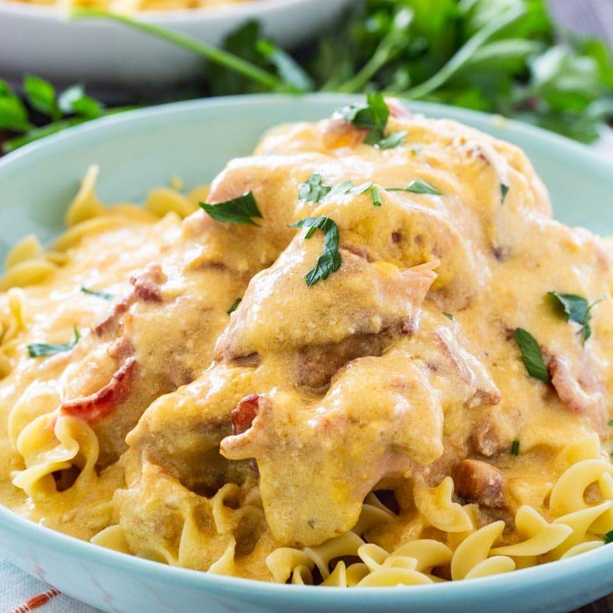 Sour Cream And Bacon Crockpot Chicken Spicy Southern Kitchen Recipe In 2020 Crockpot Chicken Sour Cream Sour Cream Chicken