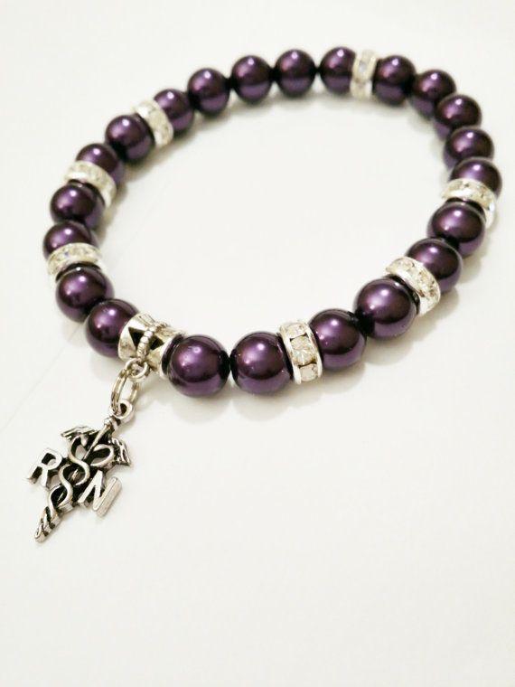 Nurse charm bracelet RN bracelet registered by VickysLittleSecrets