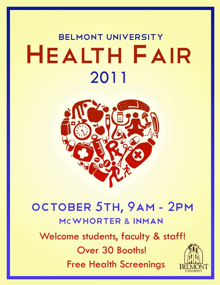 Golden Key Club Health Fair flyer for March 2015. Healthy Living ...