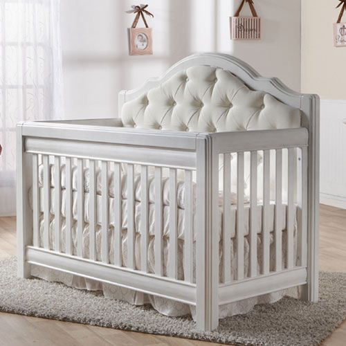 Cristallo Forever Crib Vintage White with Fabric Panel | Decoracion ...