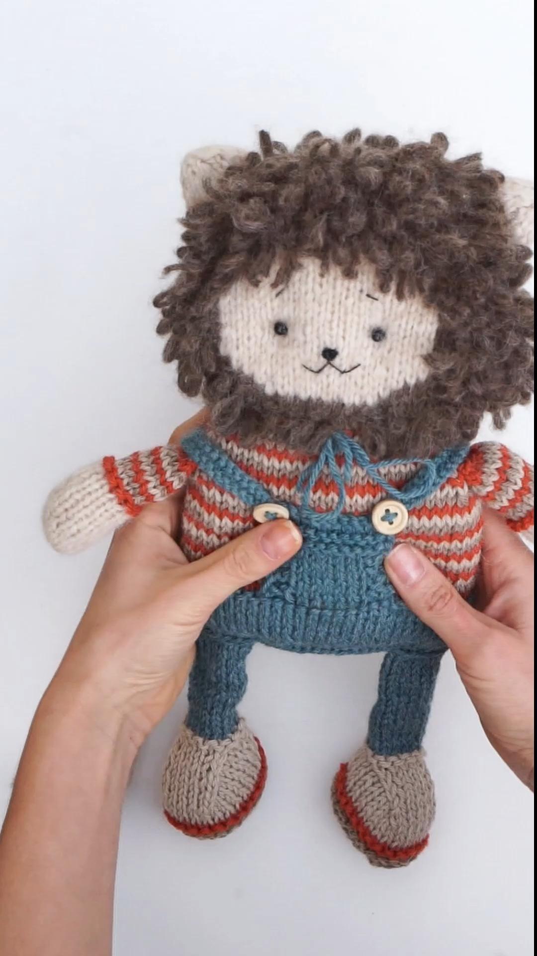 Knitting Pattern pdf - Lion Toy by PolushkaBunny #knitting ...