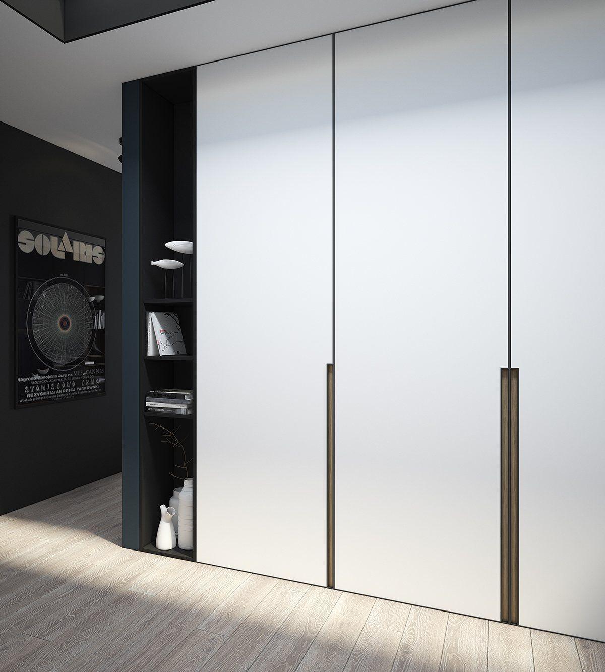45 Comfortable And Suitable Wardrobe Design For Big Small Bedroom Cupboard Design Interior Wall Design Brick Accent Walls