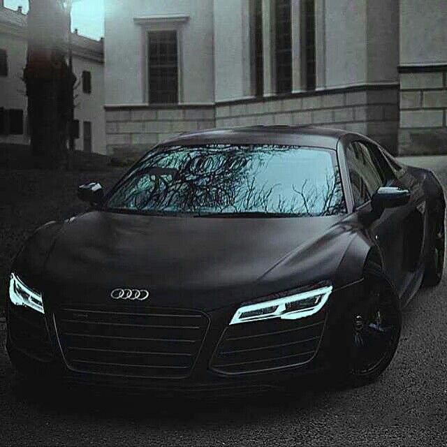 Audi R8 Matte Black With Indiglo Headlights Goals