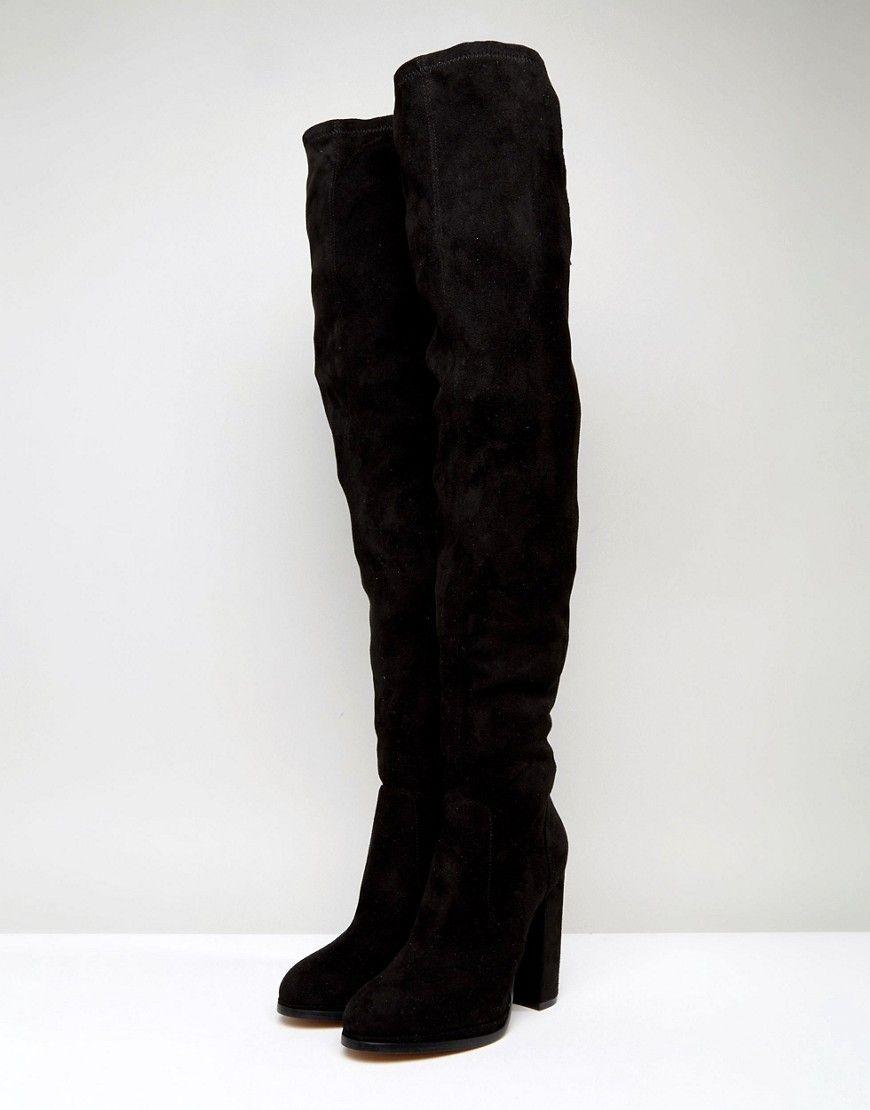 6da2ad9920f ASOS KINGSHIP TALL Heeled Over The Knee Boots - Black