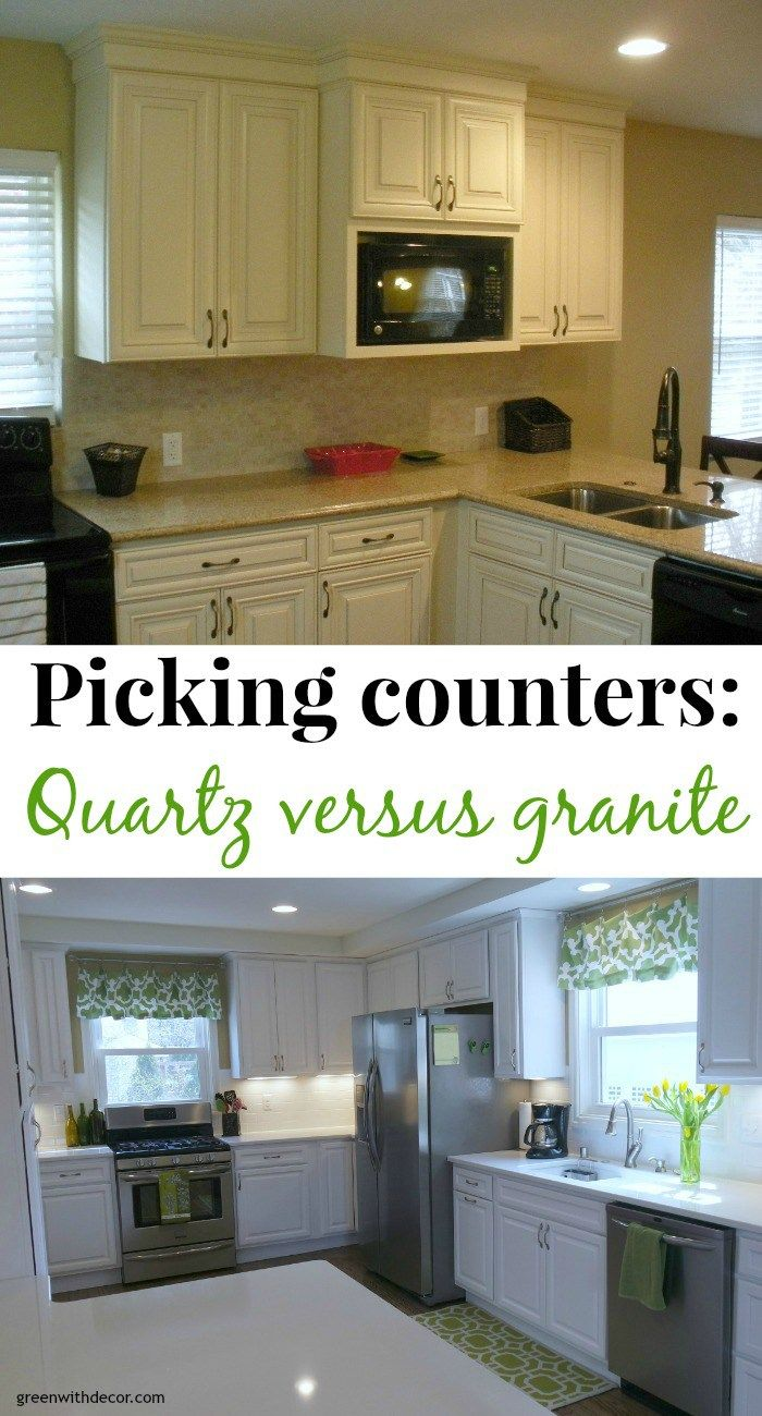 Picking Counters Quartz Versus Granite Kitchen Remodel