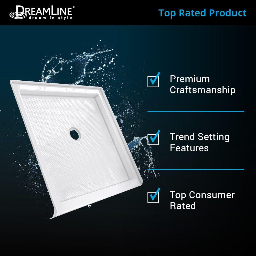 Dreamline Slimline White Acrylic Shower Base 32 In W X 60 In L