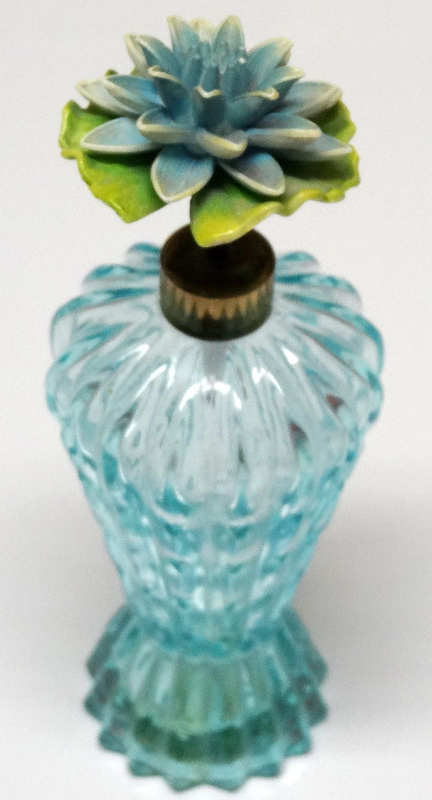 Vintage blue flower top perfume bottle ges gesch made in west vintage blue flower top perfume bottle ges gesch made in west germany beauty ebay izmirmasajfo