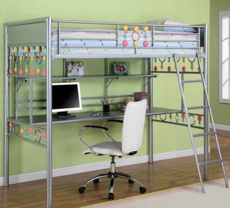 Modelos de camas litera con escritorio abajo buscar con for Litera escritorio debajo