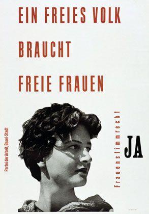 un peuple libre a besoin de femmes libres Suisse 1946