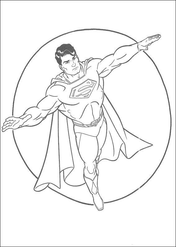 Dibujos para Colorear Superman 26 | Dibujos para colorear para niños ...