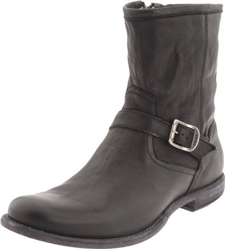 FRYE Men's Phillip Inside Zip Boot #shoes http://www.theshoespack.com/frye-mens-phillip-inside-zip-boot/  FRYE Men's Phillip Inside Zip Boot A buckled strap adds structure to the distressed upper on FRYE's Philip boot. Leather upper with zip closure. Leather sole.