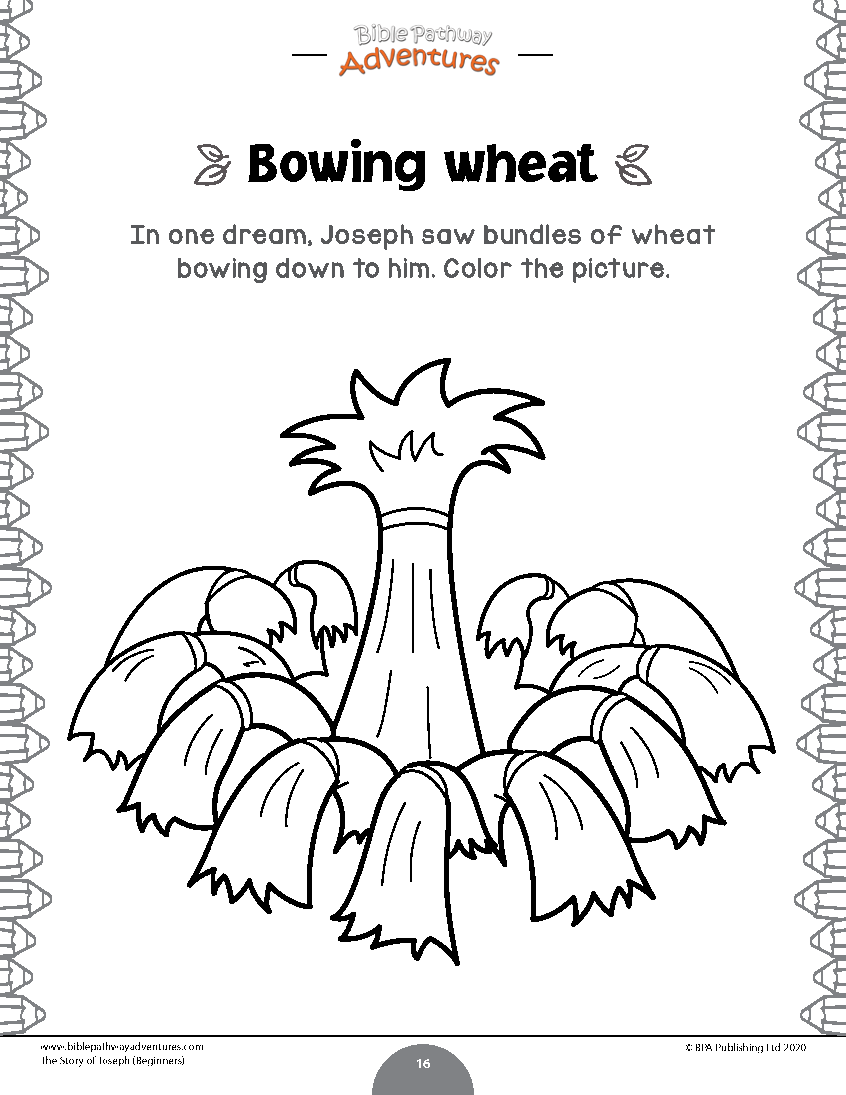 The Story Of Joseph Activity Book Beginners In