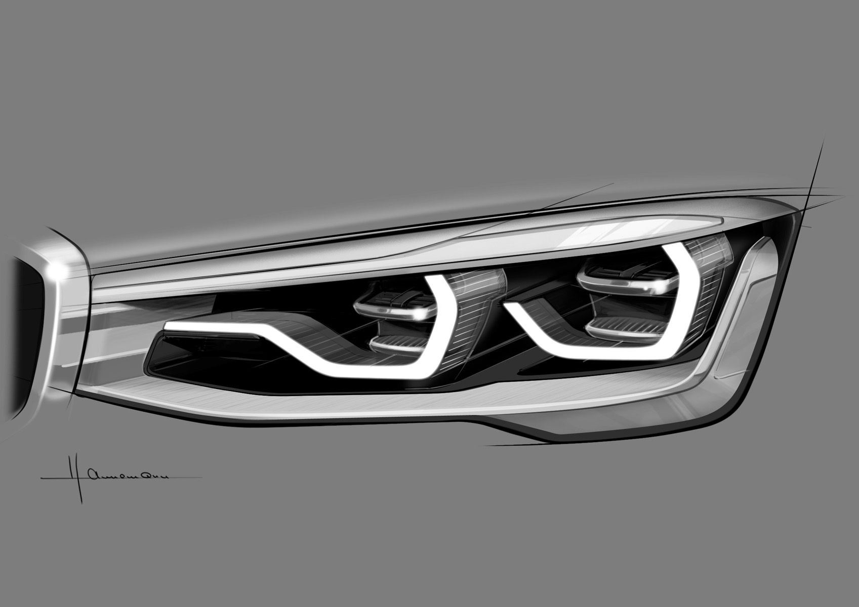 Bmw Headlights Exploded View Google Search Sketching Bmw
