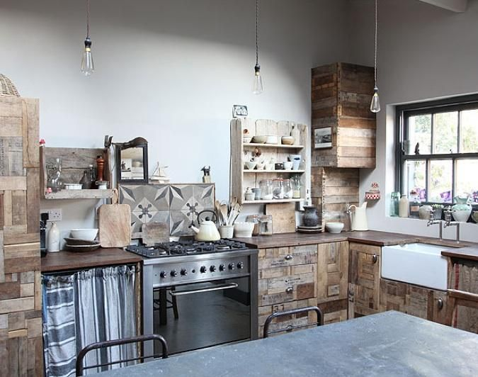 Mobili Recupero ~ Mobile cucina fatto interamente in legno di recupero cucine di
