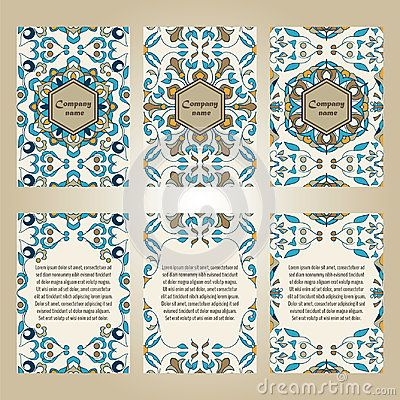 Vector set of colorful brochure templates for business and - fresh invitation banner vector