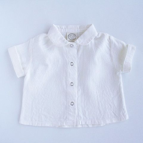 Red Creek Handmade Short Sleeve Workshirt in Oyster / www.littleheirloom.com