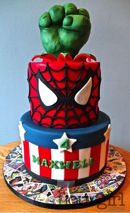 Marvel Birthday Cake Superhero Cake Boys Birthday Cake Marvel