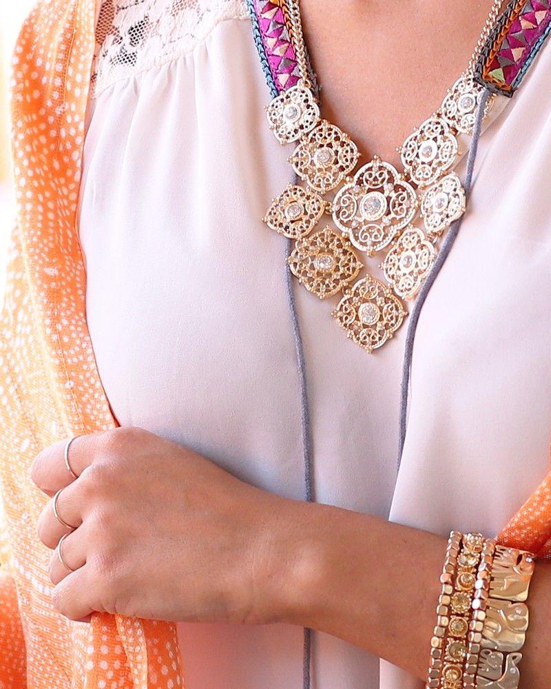 charming charlie | Quatrefoil Island Necklace Set | UPC: 410007420389 #charmingcharlie