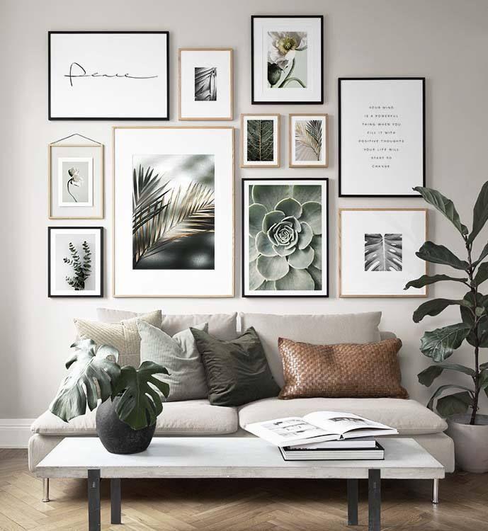 Inspiration Fur Schone Wohnzimmer Bilderwand Mit Postern In 2020