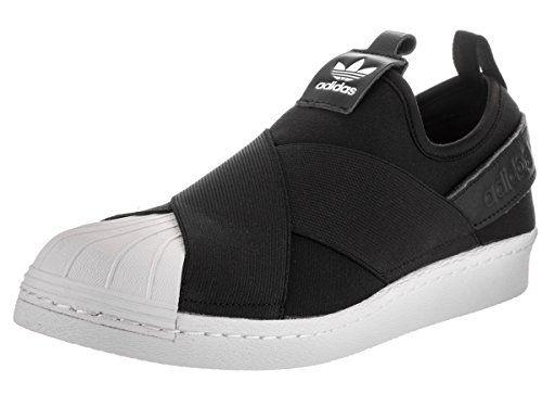 adidas Originals Women's Superstar Slip on W, Black/Black...