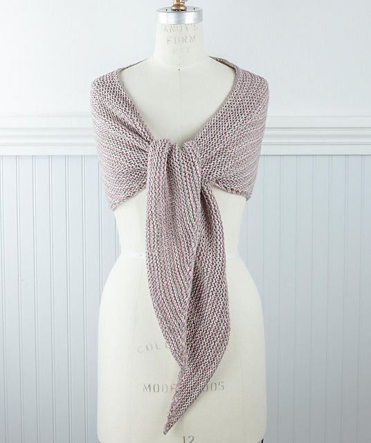 Ravelry: Easy Striped Triangle Scarf Pattern By