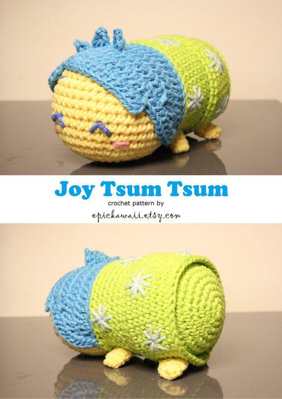 Tsum Tsum Disney Amigurumi : PATTERN 2-PACK: Joy and Sadness Tsum Tsum Crochet ...