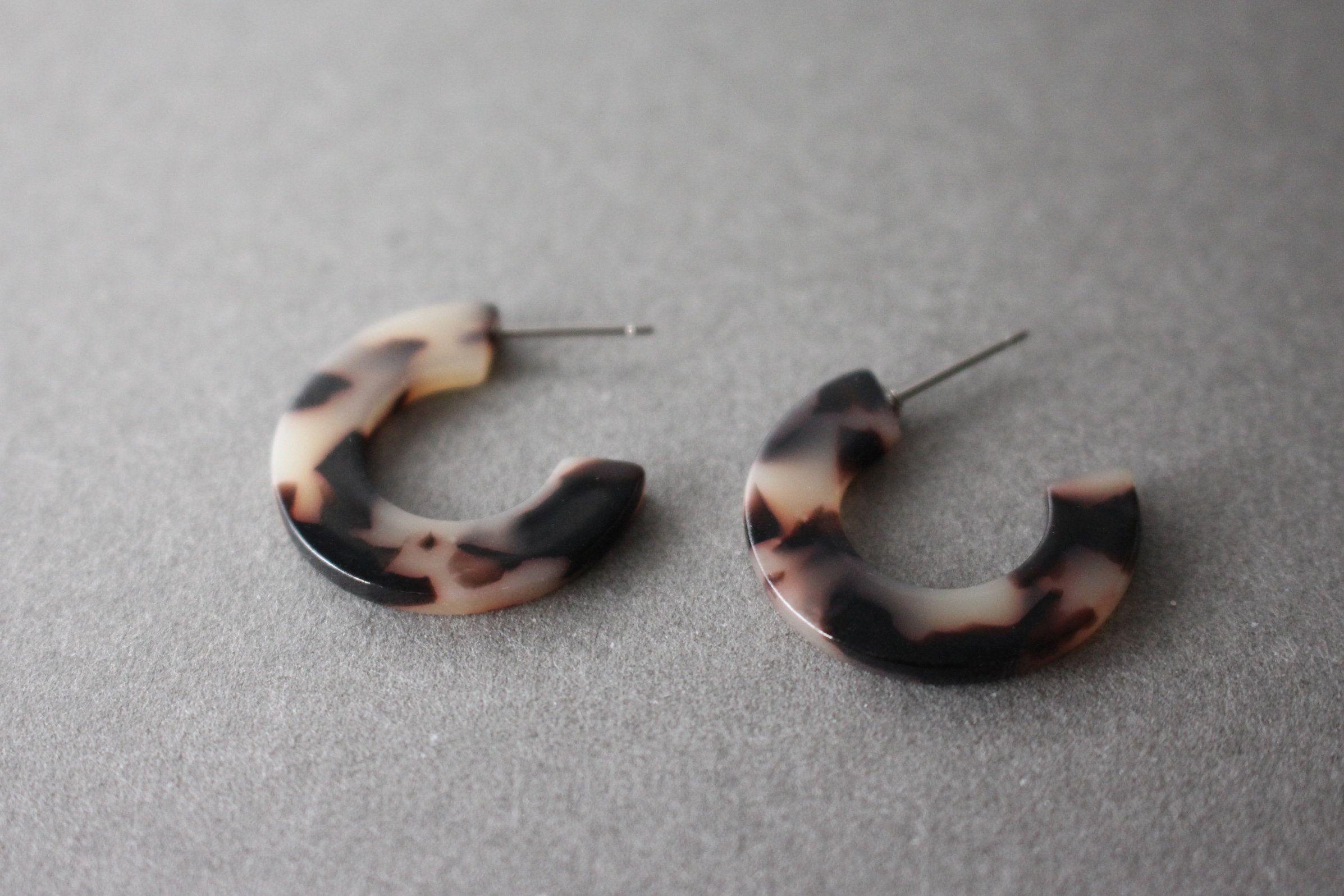 Tortoise Shell Acetate Earrings