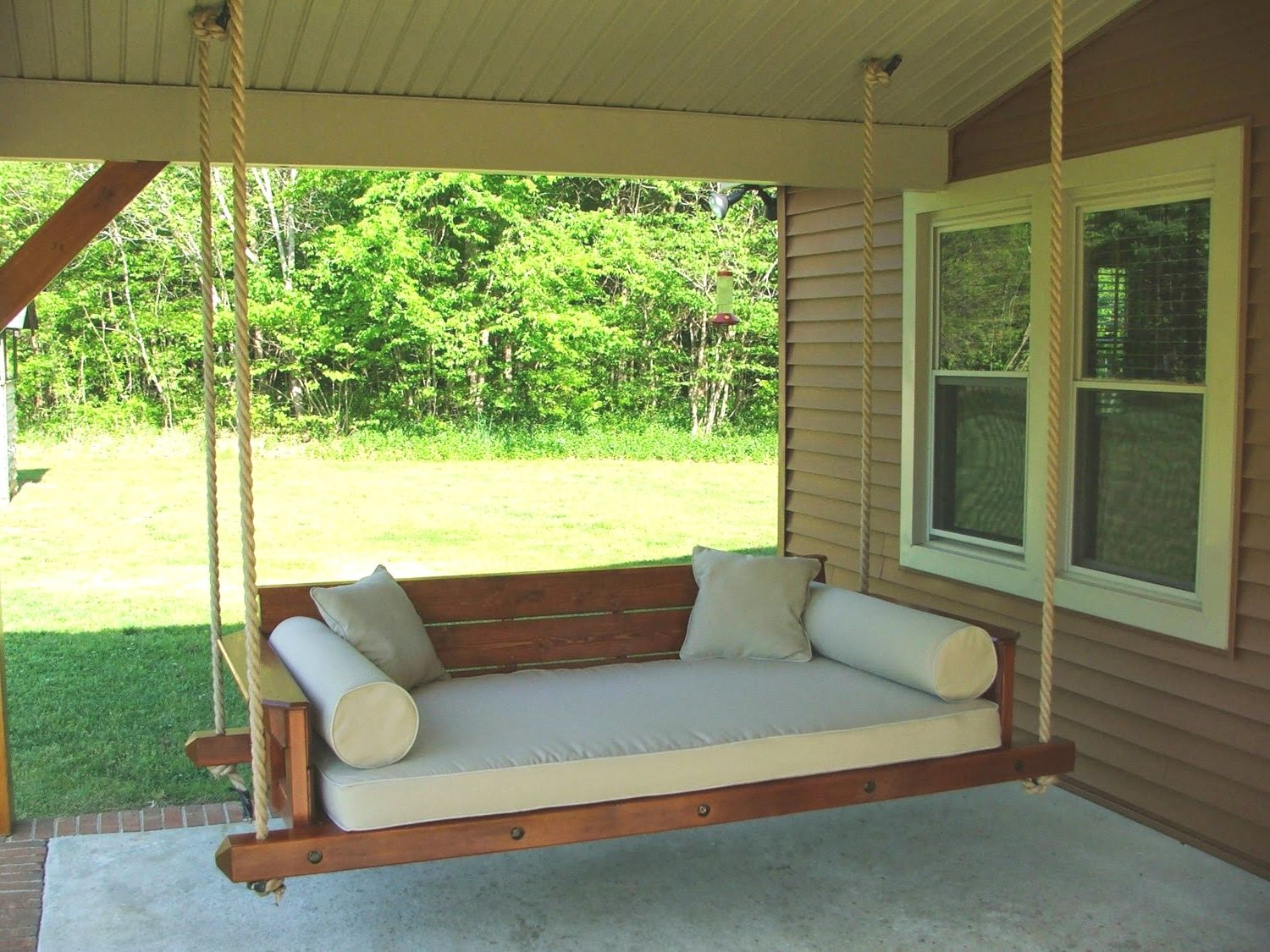 How To Build A Porch Swing Bed Build Your Own Porch Swing Bed Kit Faedaworks In 2020 Outdoor Hanging Bed Porch Swing Bed Porch Swing