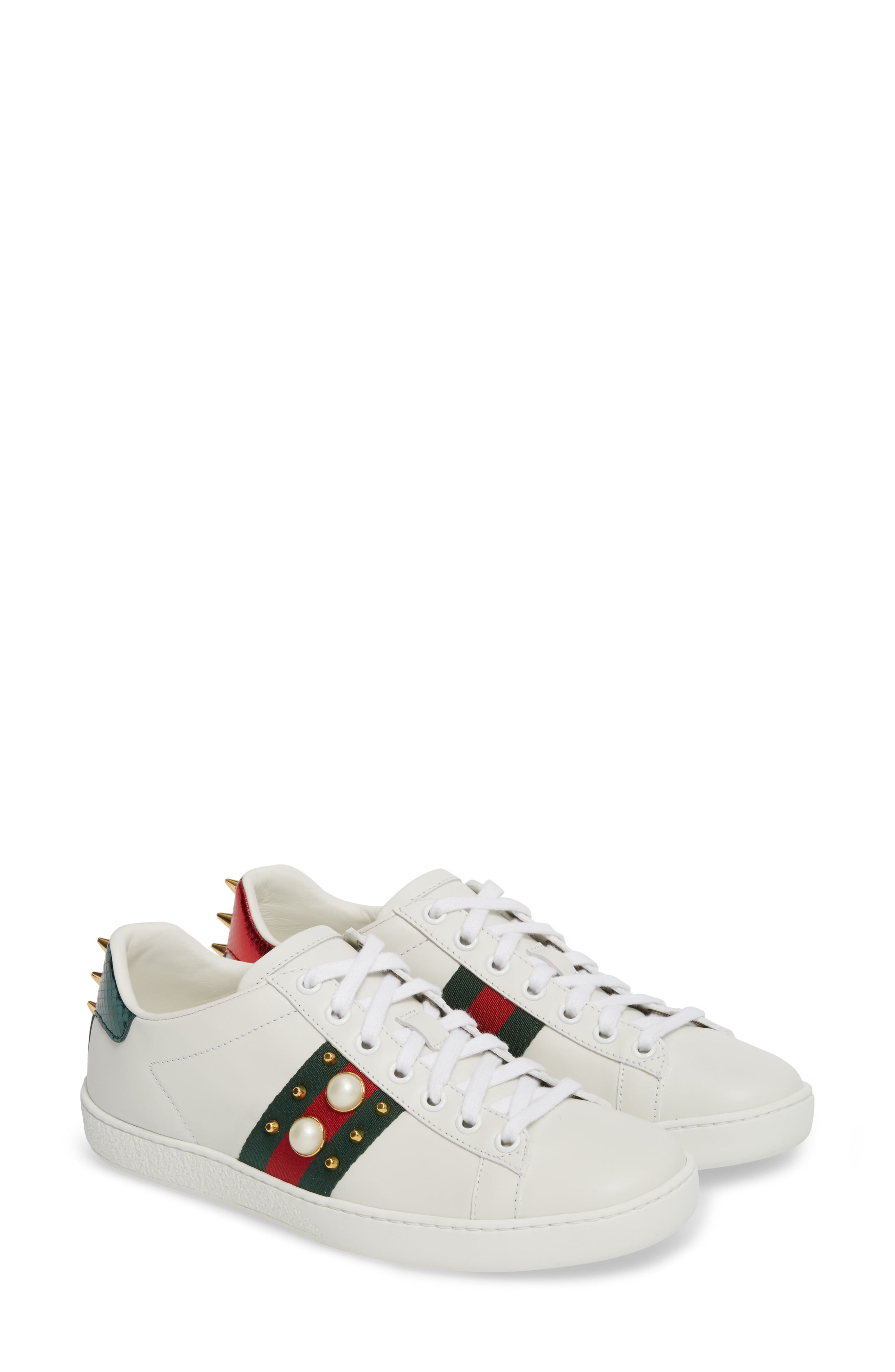 Women's Gucci New Ace Low Top Sneaker