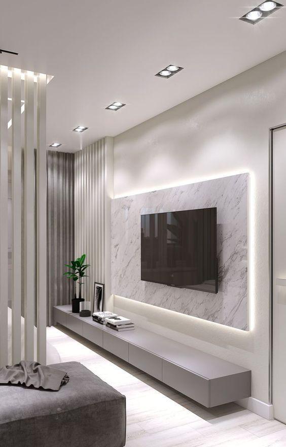 20 Living Room Wall Design Ideas 2020 Em 2020 Decoração Da Sala Decoração Sala De Tv Moveis E Decoração Sala